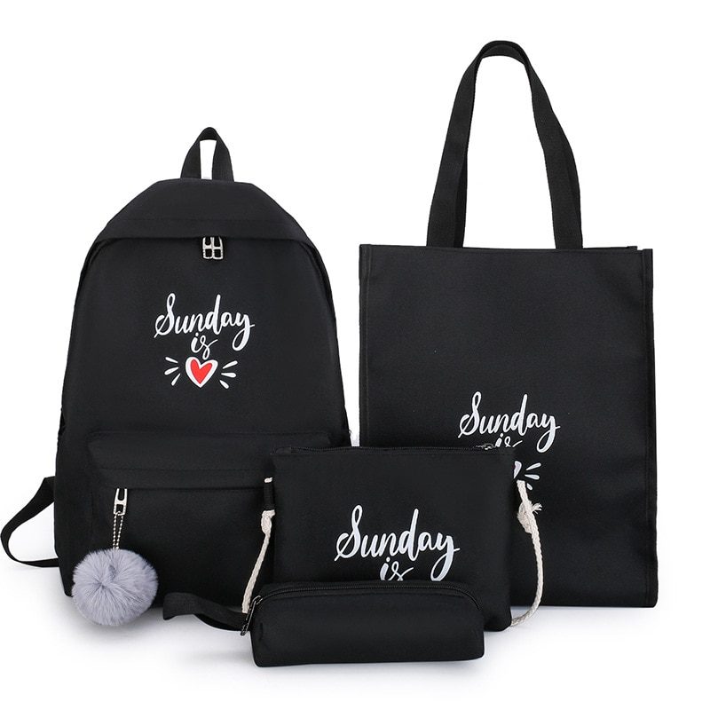 Фото - Junior high school girls' schoolbags are of good quality. Korean high school students' Mori backpack is a lovely four-piece set 2021 four piece set primary school students grade 3 6 junior high school students color contrast backpack hand bag fashion