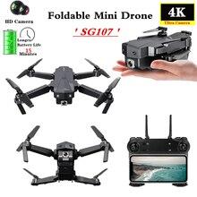 KaKBeir SG107 Mini Drone avec WIFI FPV grand Angle HD 4K 1080P caméra haute tenue Mode pliable quadrirotor Dron jouet cadeau VS E68
