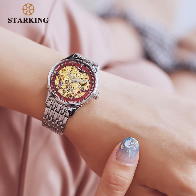 STARKING Watch Women Brand Luxury Automatic Ladies Watch Mechanical Gold Skeleton Female Watch Relogios Wrist Watch Ladies Gift enlarge