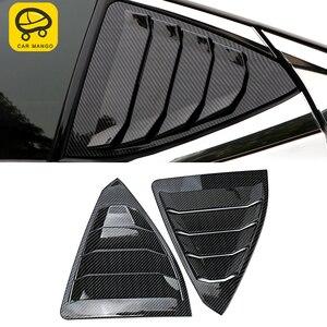 CarManGo Car Accessories Rear Side Window Sunshade Shield Curtain Trim Cover Frame Sticker Exterior for Lexus ES XZ10 2018-2020