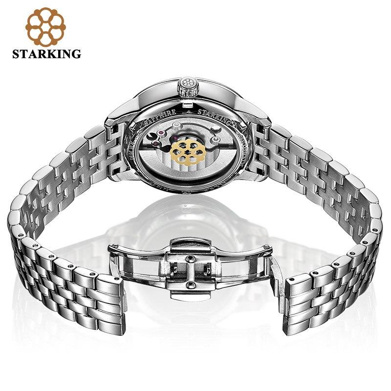 STARKING Fashion Watches Women Vintage Leather Luxury Watch Ladies Stainless Steel Automatic Women Wrist Watches 5ATM Waterproof enlarge