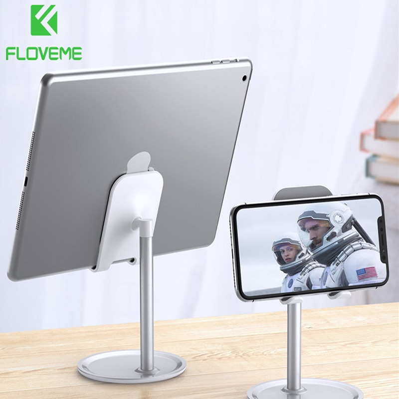 FLOVEME Universal Tablet Phone Holder Desk For iPhone Desktop Tablet Stand For Cell Phone Table Hold
