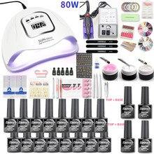 16 farben Gel Lack Nagellack Kit Nagel Set UV LED Nagel Lampe 20000rpm Elektrische Nagel Bohrer Maschine Maniküre set Nail art Werkzeug
