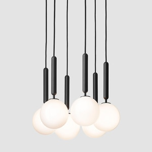 Nordic glass ball chandelier creative personalized dining room table lamp simple modern living room bedroom bedside small Chande