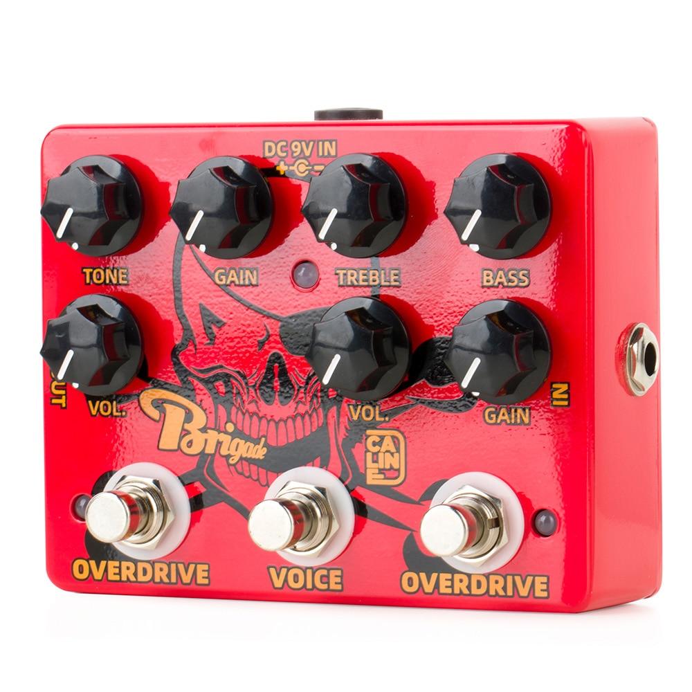 Caline DCP-07 Brigade Dual Overdrive Effect Pedal Guitar Accessories Dual  Electric Guitar Pedal Board Guitar Kit Loop Box enlarge