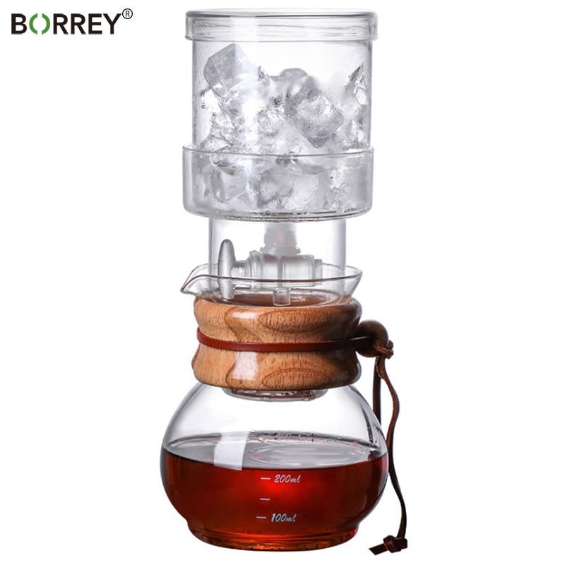 بوري 400 مللي صانع القهوة المشروب البارد الجليد بالتنقيط صانع القهوة وعاء بالتنقيط التركية يمكن ضبط سرعة قطرة الماء بدقة