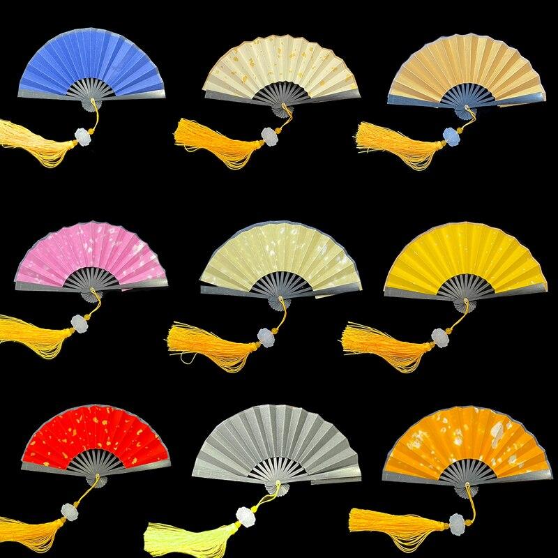 Xuan-ventilador de papel Para pintura DIY Para niños, miniláminas doradas de decoración,...