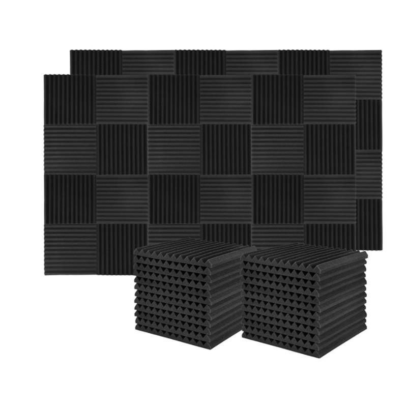 جودة 60 قطعة مجلس عزل الصوت الصوت العزل رغوة الاستوديو ، ل جدار مجلس عزل الصوت ، للمنزل استوديو ، 2.5X 30X 30 سنتيمتر