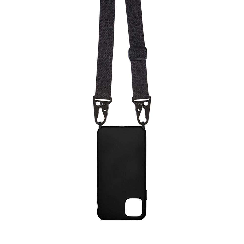 Funda de silicona para teléfono con cordón para iphone 6, 7, 8 plus, x xs, xr, xs, max, cuerpo cruzado, hombro, cuello, correa, cordón, cubierta