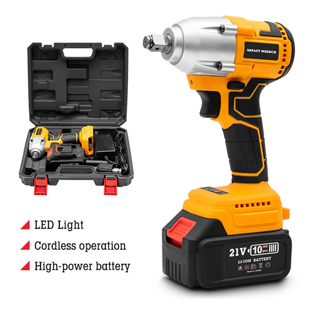 Cordless Drill Electric Screwdriver With LED Light Drill Mini Wireless Power Lithium-Ion Battery Combi Drill For DIY Projects
