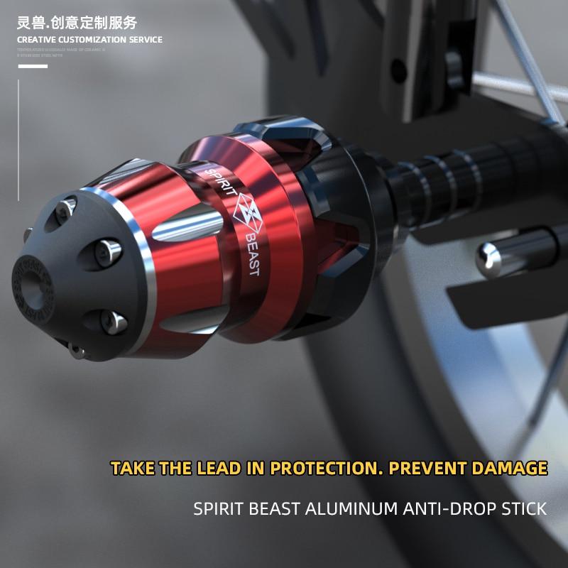 Spirit Beast-قضيب عالمي مضاد للسقوط للدراجات النارية ، 8 مللي متر ، لهوندا ، ياماها ، كاواساكي ، سوزوكي ، بي إم دبليو