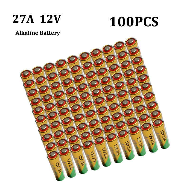 100x12V 27A alcalina baterías G27A MN27 MS27 GP27A A27 L828 V27GA ALK27A...