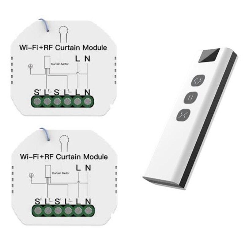 Tuya-وحدة تبديل ستارة WiFi RF مع جهاز تحكم عن بعد ، جهاز تحكم عن بعد لستارة Tuya الذكية