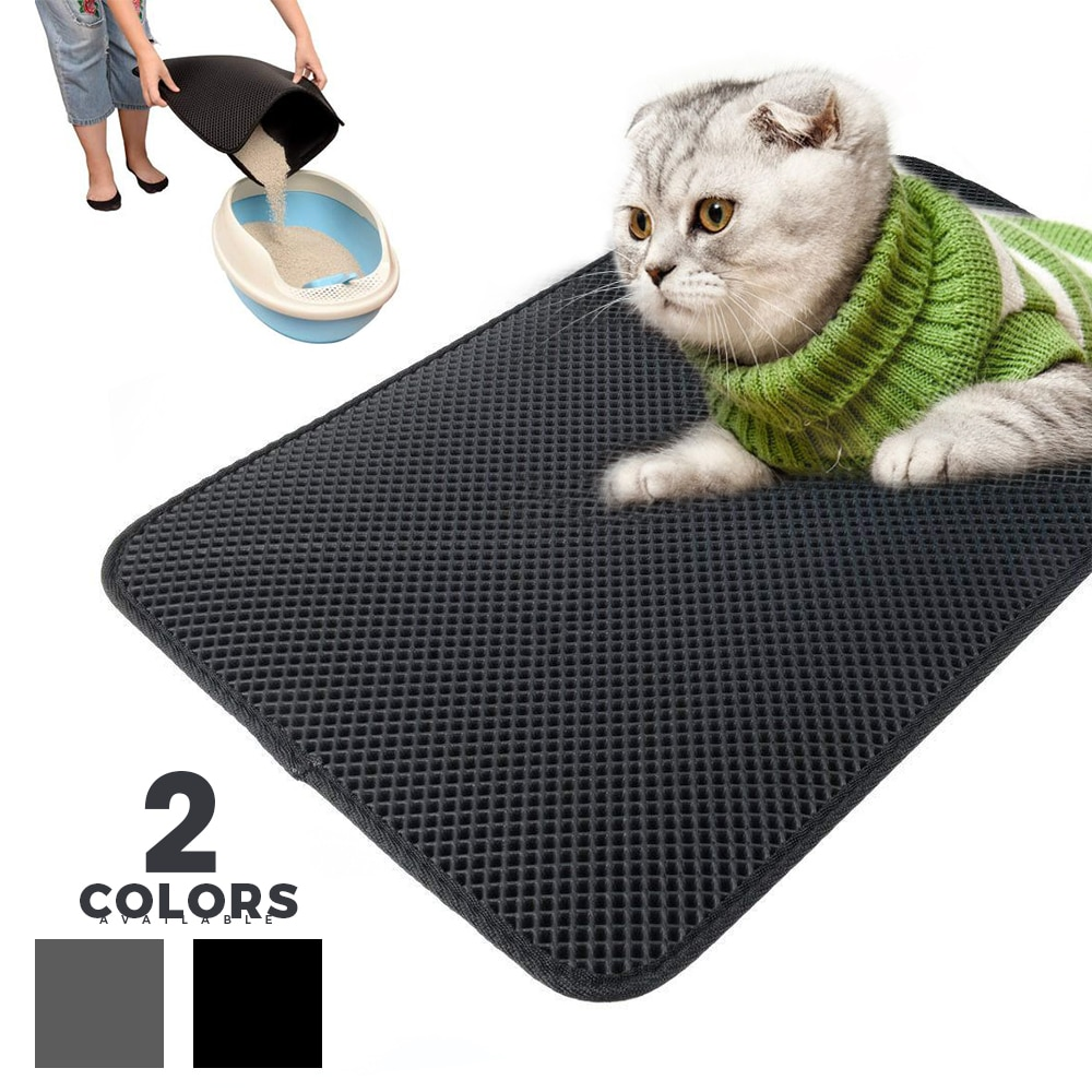 Doble capa Gato alfombra de cama impermeable EVA plegable estera trampa fondo antideslizante limpio de gatos productos para accesorios de mascotas