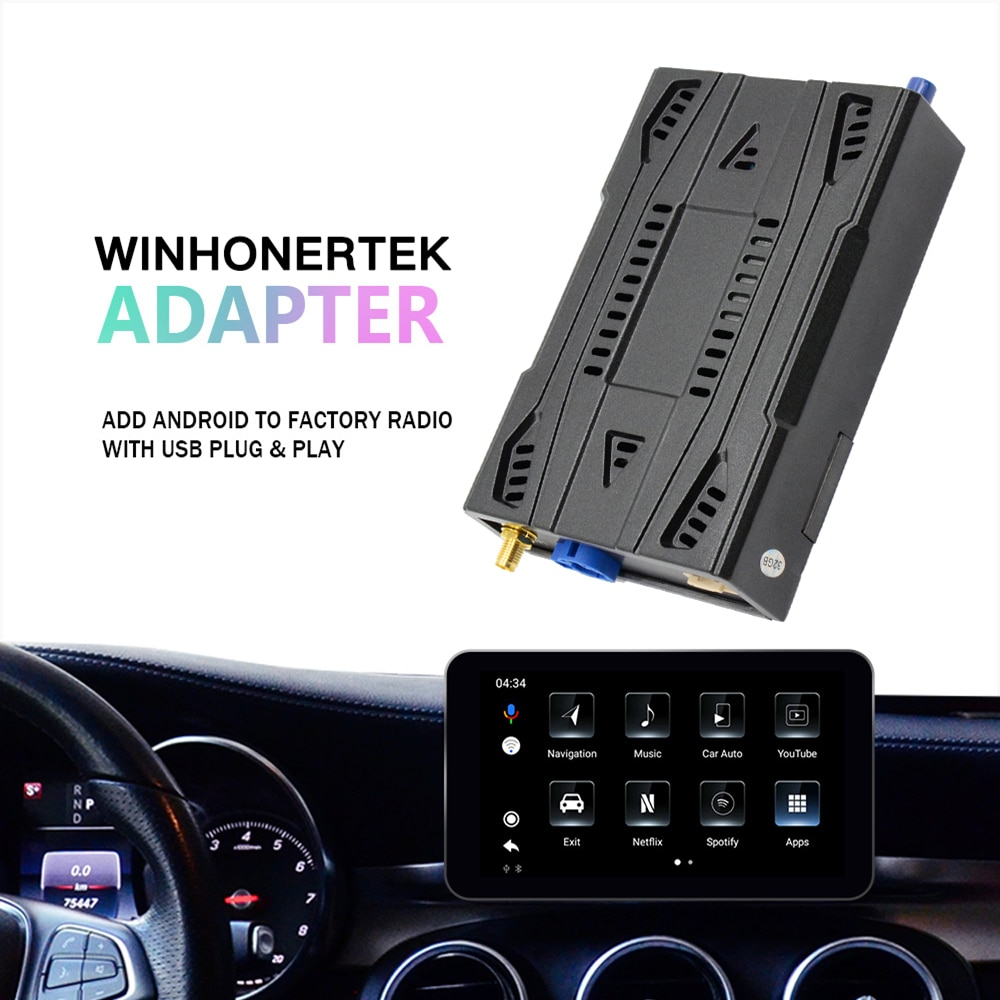WINHONGTEK Wireless CarPlay for Mercedes-benz/Jeep/Audi/Volvo Android Auto Mirror Link AirPlay Bluetooth Google Voice Control