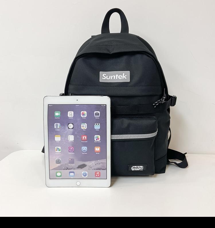 BB1761 2021 النسخة الكورية من بسيط بلون المد حقيبة ظهر بعلامة تجارية طلاب المدارس المتوسطة طلاب المدارس الثانوية