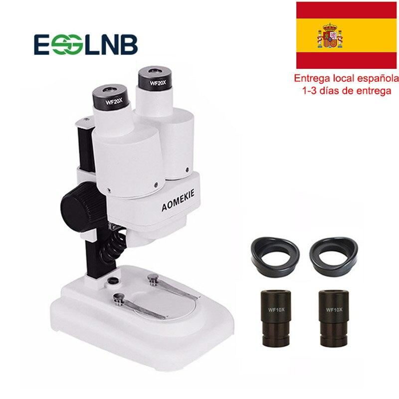 Microscópio estéreo binocular 20x/40x acima luzes led pcb ferramenta de solda reparo do telefone móvel mineral assistindo microscópio