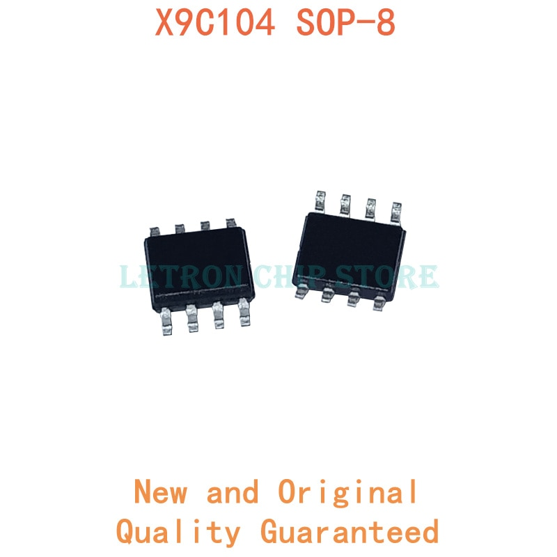 10 قطعة X9C104 SOP8 X9C104S SOP-8 X9C104SZI SOP X9C104SZIT1 SOIC8 SOIC-8 SMD جديدة ومبتكرة IC شرائح