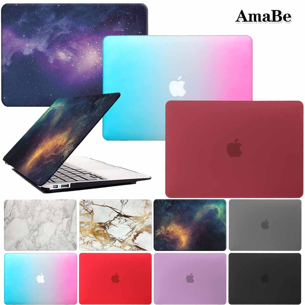 Matte Laptop Case for MacBook Air 13 12 11 Pro 15 Retina A1502 Touch Bar Macbook Inch with
