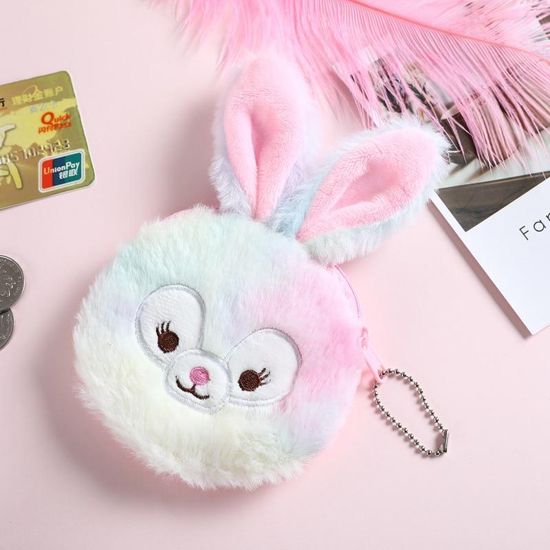 Plush Coin Purse Rabbit Money Bag Girl Cute Soft Wallet Card Case Cosmetic Holder Women Make Up Bag Christmas Girls Gift