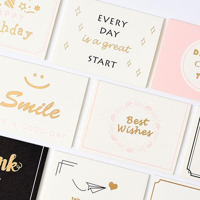 Бронзирующие открытки с конвертами и сувенирами, 10 шт., Набор открыток с наилучшими пожеланиями для поддержки моего малого бизнеса
