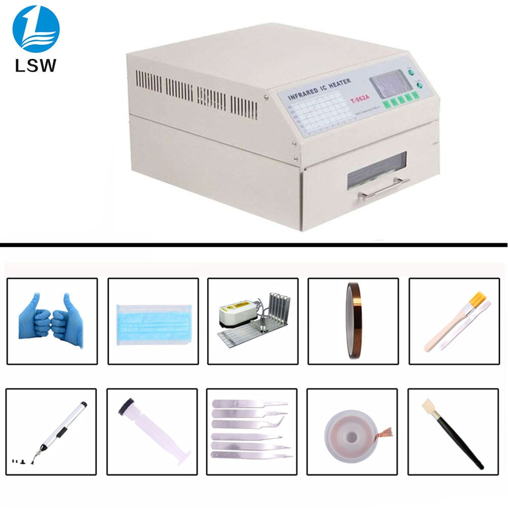T-962A Infrared IC Heater T962A Desktop Reflow Oven BGA SMD SMT Rework Sation T 962A Wave