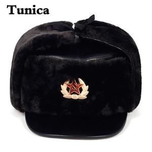 Men women windproof warm ear protection hat bomber faux fur ear flap hats winter ski caps cavalry catcher cotton Lei Feng cap