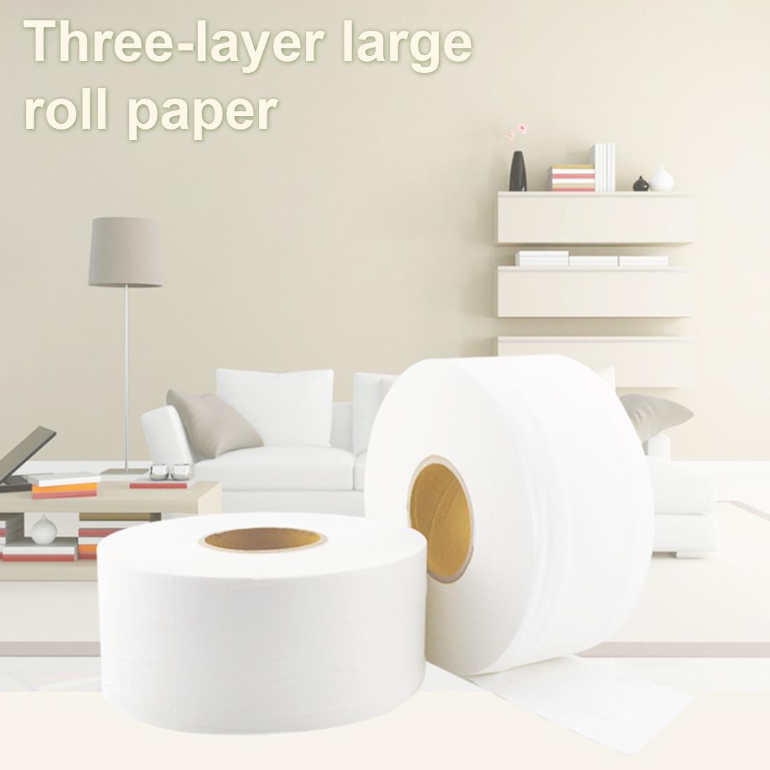 Papel higiénico, rollo de papel para baño o cocina, 580g, rollo de papel Jumbo Ultra comercial, toallas de papel para el hogar, uso público, para Hotel