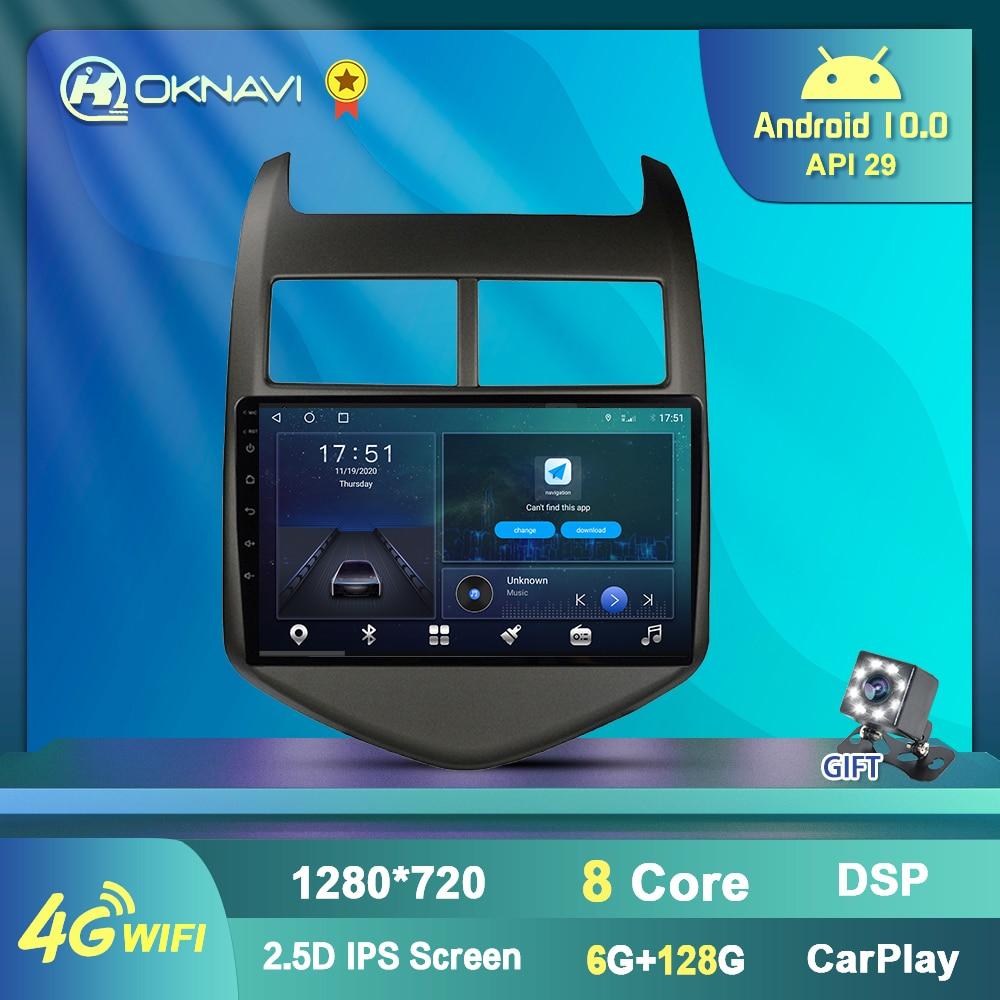 Фото - 6+128G Android 10 Car GPS Multimedia Player For Chevrolet Aveo Sonic 2011-2015 Car Radio GPS Navigation 4G WIFI Carplay DSP Auto 6g 128g android 10 0 smart car radio video player for nissan nv200 2011 2016 4g auto bt multimedia gps stereo dsp carplay no dvd