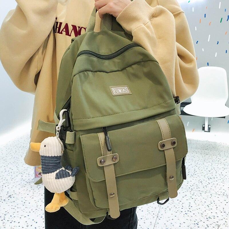 Mochila de nailon impermeable HOCODO, mochila escolar 2020 de Color liso para adolescentes, mochila de viaje antirrobo, mochilas para mujer