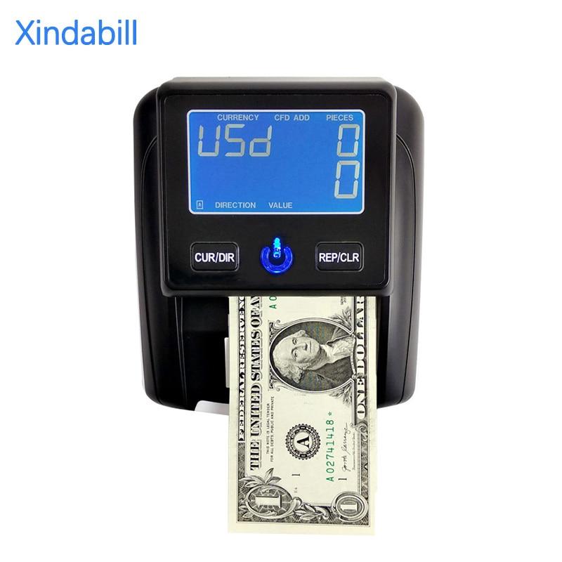 Aibecy-جهاز كشف الأوراق النقدية المحمول ، وعداد الأوراق النقدية ، باستخدام كاشف العملات المزيفة UV/MG/IR/DD