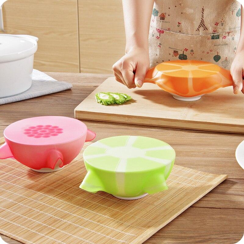 Multifuncional cocina Film transparente comida cubierta reutilizable alimentos de silicona Material de embalaje elástico No deformación tapa de vacío