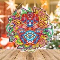 diy diamond painting wreath with led light keychain diy cross stitch art craft diamond embroidery kit christmas home wall decor
