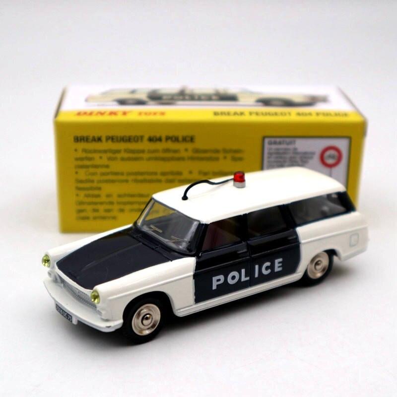 Atlas 143 Dinky toys 1429 BREAK PEUGEOT 404 policía miniaturas colección modelos fundidos