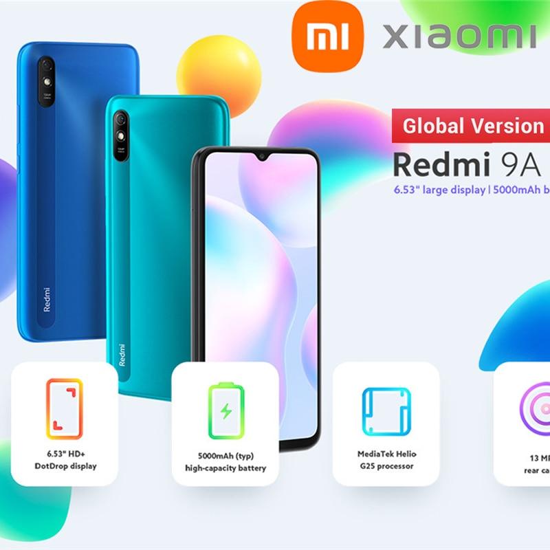 Перейти на Алиэкспресс и купить Xiaomi Redmi 9A глобальная версия 6GB + 128GB смартфон MTK Helio G25 Восьмиядерный 13 миллионов пикселей 6,53 дюймов капли воды на весь экран