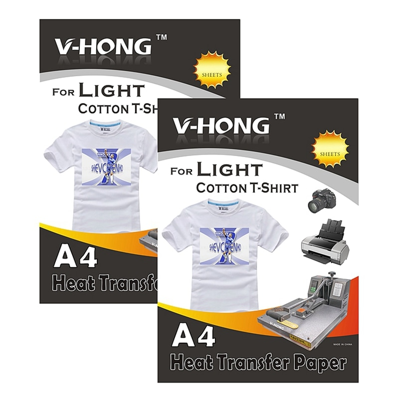 Inkjet Iron-On White and Light Colored T Shirt heat Transfers Paper 8.27