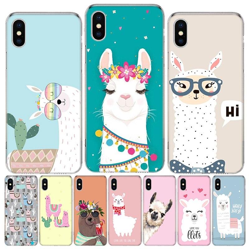 Lama Llama Alpacas Animal Phone Case For iphone SE 2020 11Pro XS MAX 8 7 6 6S Plus X 5 5S SE XR Cover Shell Coque