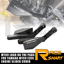 1 Set Engine Crash Bunds Pads For YAMAHA MT 09 FZ09 2014 2015 Slider Protector MT09 FZ 09 FJ09 FJ-09 XSR900 XSR 900 2016 2017