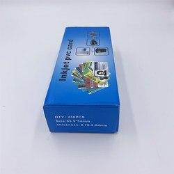 Alta qualidade em branco inkjet pvc cartão para epson ou canon impressão a jato de tinta pacote cor 230 pçs/lote usado para cartão de membro id