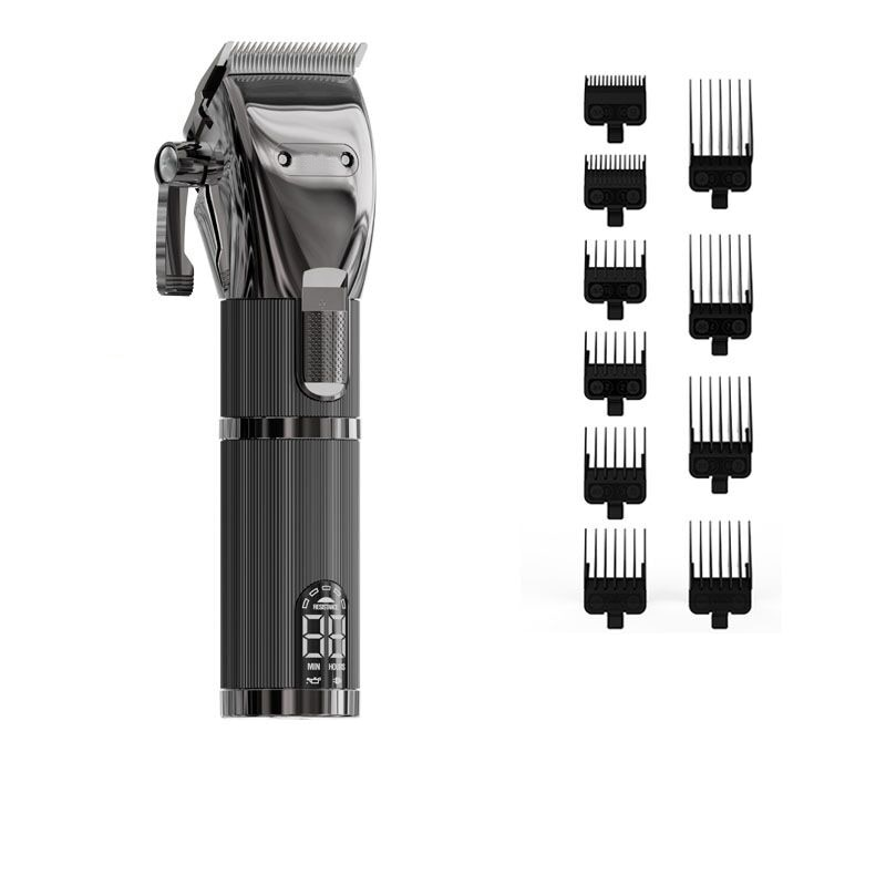 7000rpm hair clipper set with 10 guide comb hair beard trimmer 0mm clipper barber salon cutting machine top quality new arraval enlarge
