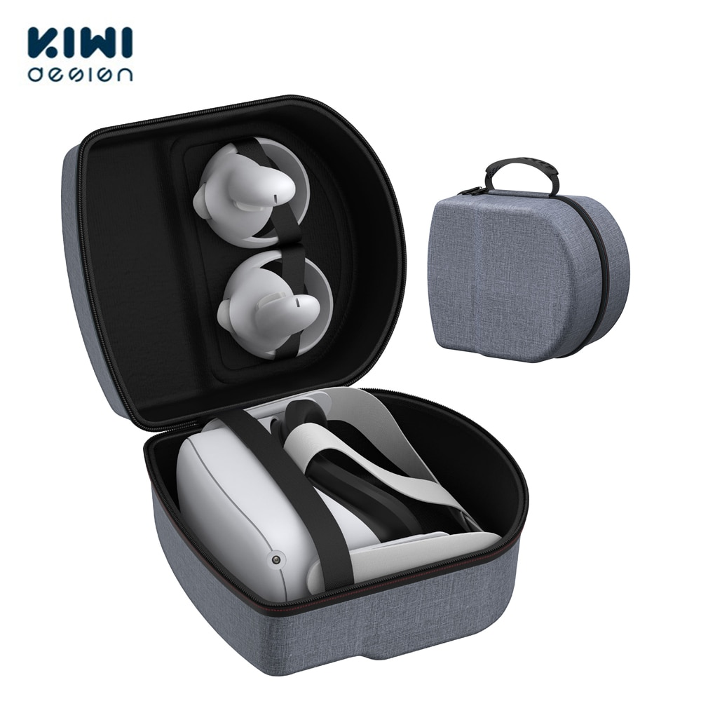 KIWI design Hard Travel Case For Oculus Quest 2 Waterproof Shockproof Carrying Case Protect Quest 1/2 VR Headset Accessories