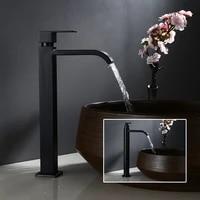 Robinet de lavabo en acier inoxydable 304  robinet de salle de bains froide uniquement  robinet de lavabo noir  robinet devier de salle de bains  grand robinet en acier inoxydable pour leau froide