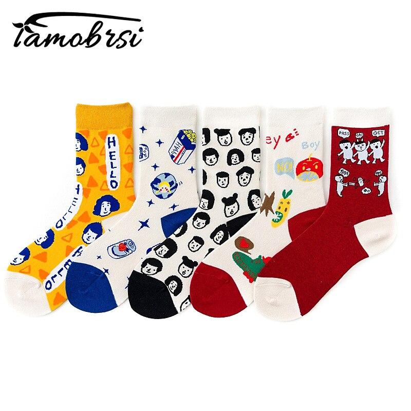 Теплые забавные носки с героями мультфильмов; милые короткие белые зимние женские хлопковые женские носки; креативные корейские носки