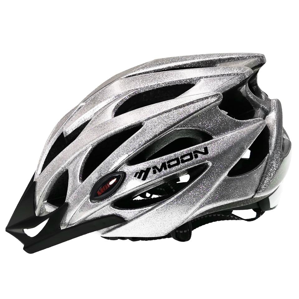 MOON Bicycle Helmet Reflective Lights Cycling Helmet Men Women Child 52-64cm Ultralight Bike Helmet Road Mountain MTB Helmet