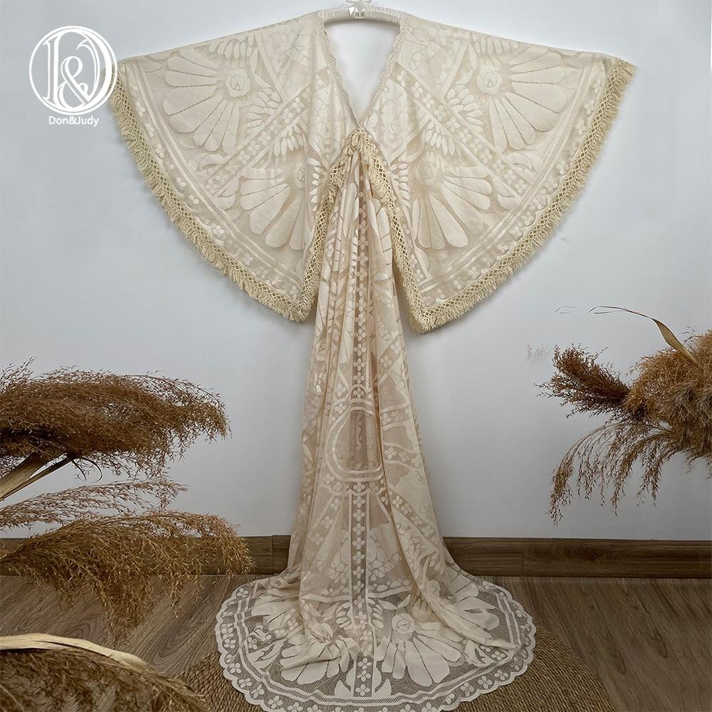 Don&Judy Kaftan Vintage Boho Lace Maternity Dress Photography Photo Clothes Party Bohemian Gown Pregnancy Dresses Photo Shoot