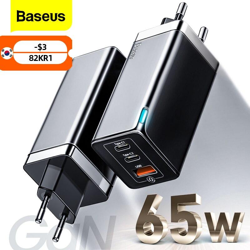 Baseus غان 65 واط USB C شاحن سريع تهمة 4.0 3.0 QC4.0 QC PD3.0 PD USB-C نوع C سريع USB شاحن آيفون 12 برو ماكس ماك بوك