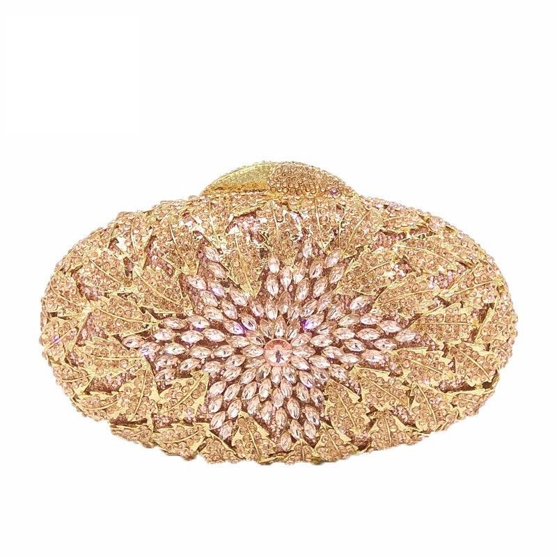 حقائب يد نسائية من الكريستال ، حقيبة يد نسائية صغيرة من الكريستال للشمبانيا والزهور المزدوجة ، مثالية لحفلات الزفاف