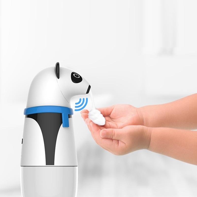 التلقائي رغوة موزع الصابون لطيف الباندا الاطفال ذكي مستشعر حركة بالأشعة تحت الحمراء Touchless غسل اليد للمنزل