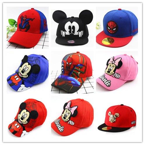Moda niños dibujos animados Mickey Gorra de béisbol Minnie niños gorras de Hip Hop lindo Anime sombreros verano Snapback Gorra sombrero niños niñas regalo