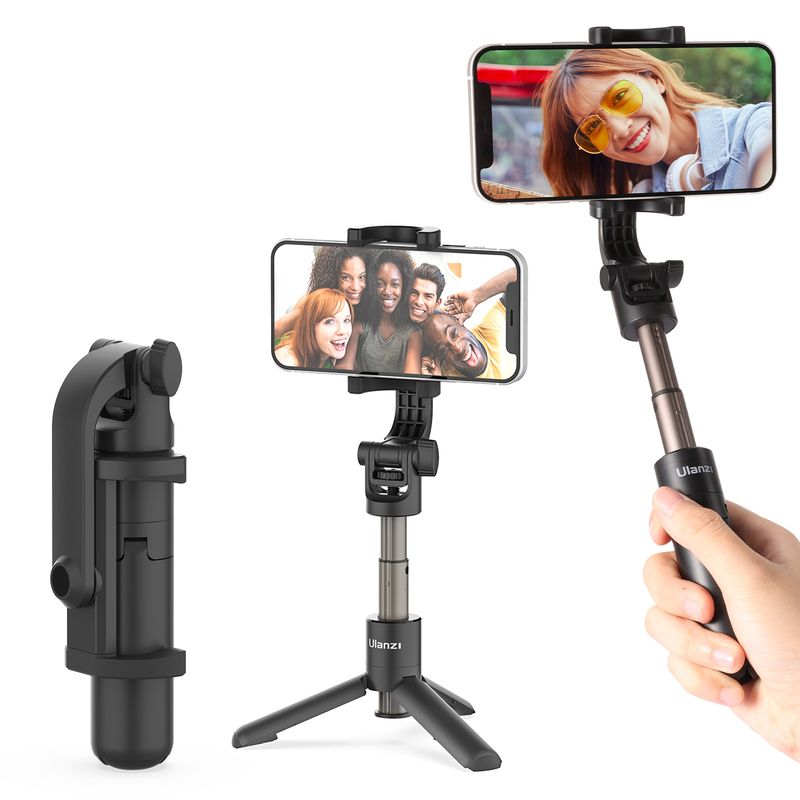 Ulanzi MT-38 Mini Extendable Tripod Selfie Stick for iPhone Andriod Gopro 9 8 7 SLR Camera Foldable Handheld Monopod